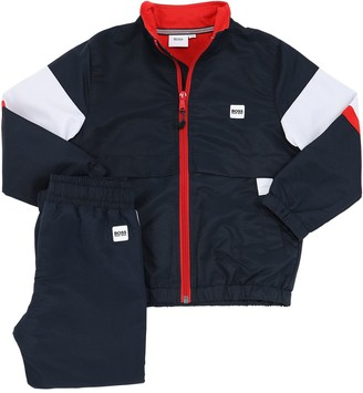 HUGO BOSS Stretch Nylon & Cotton Jersey Track Suit