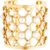 Tory Burch Glass Pearl Wide Cuff
