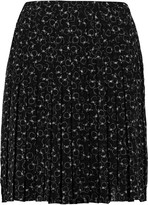 See by Chloe Printed Swiss-dot chiffon mini skirt