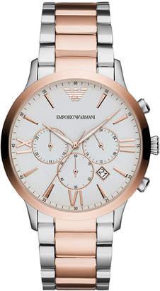 Emporio Armani Men Chronograph Two-Tone Stainless Steel Bracelet Watch 44mm