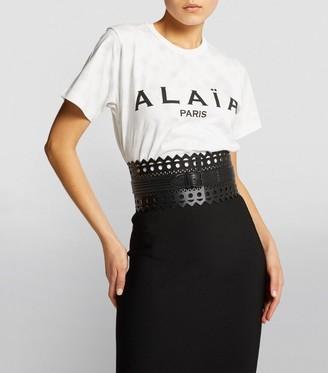 Alaia Editions 1992 Leather Laser-Cut Corset Belt