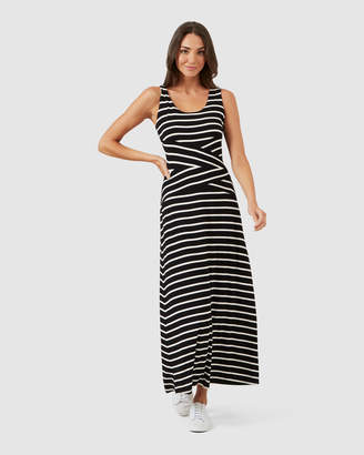 French Connection Stripe Jersey Maxi Dress