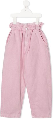 Dondup Kids Ruffled Waist Trousers