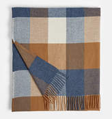 Rejuvenation Gray and Brown Lambswool Throw