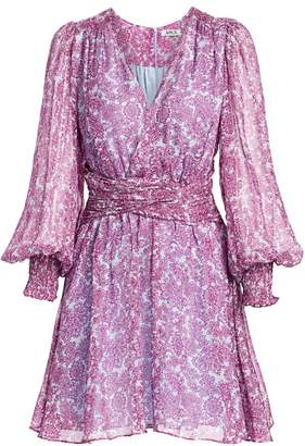 AMUR Floral Faux Wrap Dress