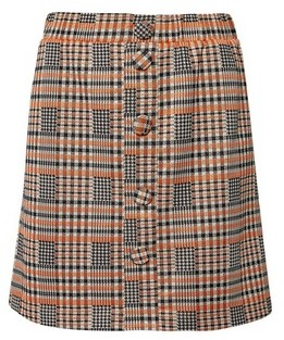 Dorothy Perkins Womens Lola Skye Multi Colour Check Button Mini Skirt, Multi Colour