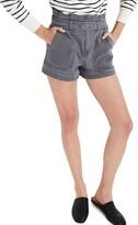 Madewell Denim Snap Belt Paperbag Waist Shorts
