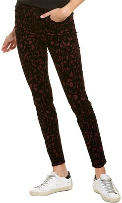 J Brand Mulberry Brocade Super Skinny Leg Jean
