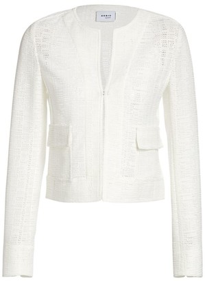 Akris Punto Grid Lace Jacket