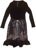 Versace Black Wool Dress for Women Vintage