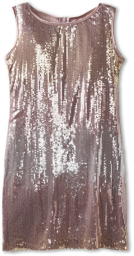 Biscotti Time To Sparkle Sleeveless Dress (Big Kids) (Cocoa) - Apparel