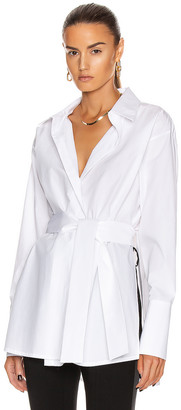 GAUGE81 Casablanca Wrap Shirt in White | FWRD