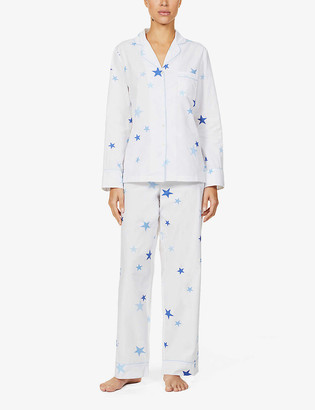 Chinti and Parker Classic star-print cotton-poplin pyjama set