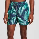 Merona Men's Palm Print Swim Trunks Navy
