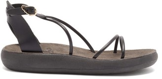 Ancient Greek Sandals Anastasia Leather Sandals - Black
