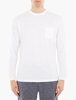 Sunspel White Cotton Long-Sleeved T-Shirt