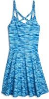 Aqua Girls' Spacedye Stripe Dress, Big Kid - 100% Exclusive