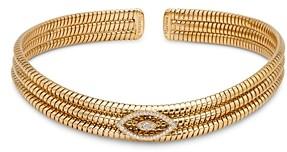 Marina B 18K Yellow Gold Trisolina Diamond Flex Collar Necklace