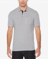 Perry Ellis Men's Multi-Striped Pique Cotton Polo