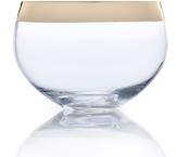 Mikasa Serenity Gold Large Glass Bowl