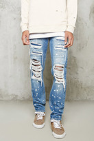 Forever 21 FOREVER 21+ Distressed Slim-Fit Jeans