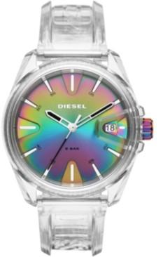 Diesel Unisex MS9 Transparent Polyurethane Strap Watch 44mm