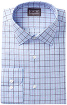Ike Behar Oxford Plaid Full Fit Dress Shirt