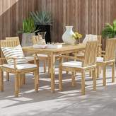"""Anthony Logistics For Men Foundstone Outdoor Patio 7 Piece Teak Dining Set with Cushion Foundstone Table Size: 37.5"""" H x 98.5"""" L x 39.5"""" W"""