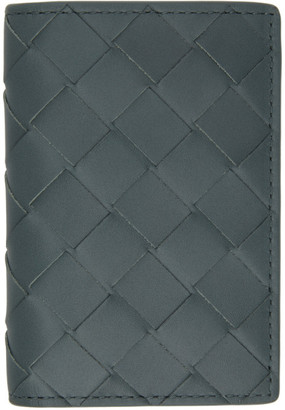 Bottega Veneta Grey Intrecciato Bifold Card Holder