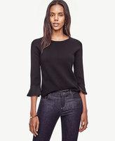 Ann Taylor Ruffle Cuff Sweater