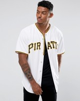 Majestic Mlb Pittsburgh Pirates Baseball Replica Jersey In White