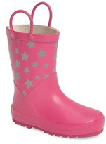 Western Chief Girl's Twinkle Stars Reflective Rain Boot