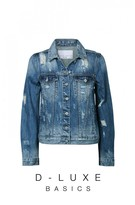 DECJUBA Luxe Distressed Denim Jacket
