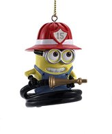 Kurt Adler Despicable Me Minion Dressed as a Firefighter Christmas Tree Ornament Decoration