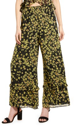 Lost + Wander Marianna Floral Print Wide Leg Pants