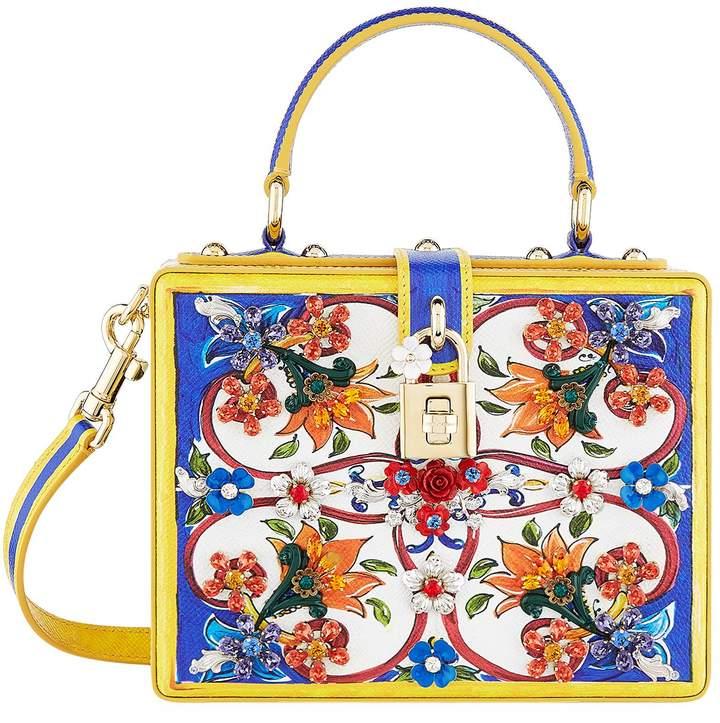 Dolce & Gabbana Embellished Majolica Top Handle Bag