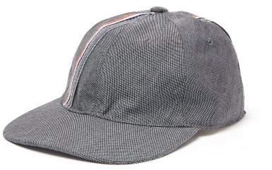 Thom Browne Striped Wool-blend Baseball Hat - Mens - Grey