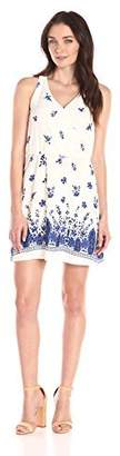 Collective Concepts Women's Floral-Printed Dress with Border