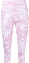 Thumbnail for your product : GCDS Logo-Print Cropped Leggings