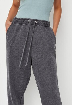 Missguided Petite Gray Washed Oversized 90S Joggers