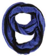 Paula Bianco Stripes Infinity Scarf Black/royal.
