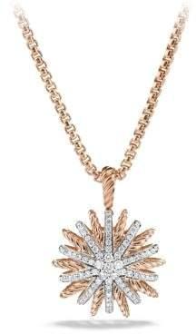 David Yurman Starburst Small Pendant Necklace With Diamonds In 18K
