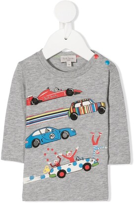 Paul Smith Car Print Long-Sleeved Top