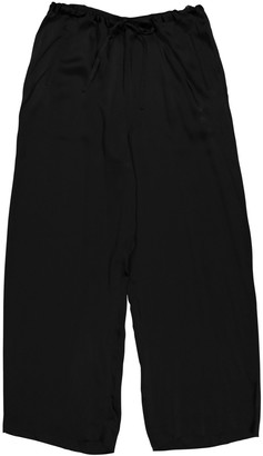 Donna Karan Black Synthetic Trousers