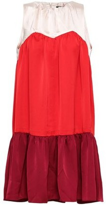 Paper London Color-block Satin-crepe And Charmeuse Mini Dress