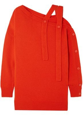 Tomas Maier One-shoulder Cashmere Sweater