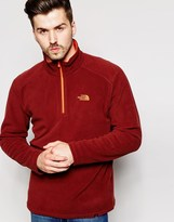 The North Face 100 Glacier 1/4 Zip Fleece - Red