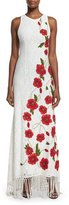 Alice + Olivia Bonny Sleeveless Lace Floral-Embroidered Dress