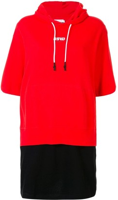 Izzue Two-Tone Hoodie Dress