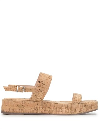 Schutz Buckled-Strap Flat Sandals